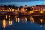rome, blue hour, city, church, basilica, italy, Rome, photo