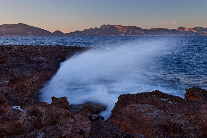 sunset, wave, beach, bay, sea, coast, lagoon, mallorca, spain, 2011, photo