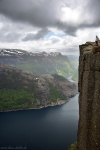 fjord, cliff, mountain, person, hiking, norway, 2015, photo