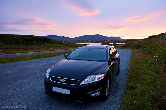 sunset, car, camping, quiraing, road, scotland, 2014, photo