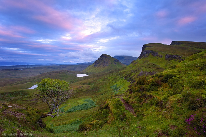 sunset, mountain, remote, skye, clouds, tree, lake, scotland, 2014, photo