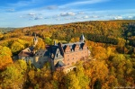 autumn, fall, mountains, drone, castle, harz, forest, germany, 2020, photo