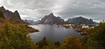reine, autumn, panorama, mountain, rugged, lofoten, norway, 2013, photo