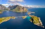 lofoten, reine, norway, mountain, fjord, drone, aerial, ocean, coast, arctic, 2017, photo