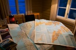 lofoten, norway, reine, hut, rorbeur, maps, blue hour, 2013, photo