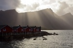 sun, fjord, storm, rorbuer, sunbeams, reine, lofoten, norway, 2013, photo