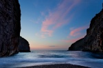 sunset, sa calobra, sea, coast, blue, mountain, torrent, mallorca, spain, 2011, Spain, photo