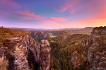 mountain, sunrise, valley, saxon switzerland, forest, vista, view, germany, 2020, photo