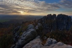 saxon switzerland, autumn, sunset, sunstar, germany, 2013, Wandern auf die Schrammsteine, photo