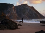 sunset. beach, rugged, atlantik, sea, ocean, adraga, portugal, selfie, 2012, Hunting the Light, photo