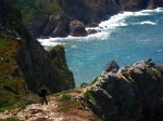 beach, cliff, rugged, atlantik, sea, ocean, cabo da roca, portugal, 2012, photo