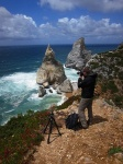 beach, cliff, rugged, atlantik, sea, ocean, ursa, selfie, portugal, 2012, Hunting the Light, photo