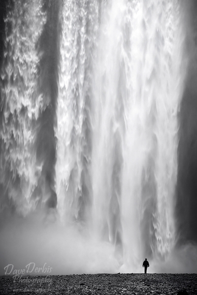iceland, falls, skogafoss, coast, canon, assignment, remote, bnw, photo