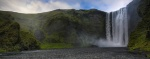 waterfall, panorama, skogafoss, coast, sunset, iceland, 2008, photo