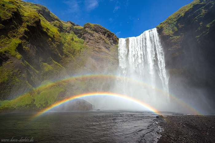 skogarfoss, waterfall, paradise, rainbow, iceland, 2016, photo