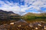 lake, reflection, mountain, lake, summer, scotland, 2014, Scotland, photo
