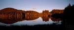 reflection, sunset, lake, harz, panorama, mirror, autumn, highlands, germany, 2012, photo