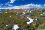 drone, mountains, aerial, jotunheimen, lake, glacier, fjellet, norway, 2019, photo
