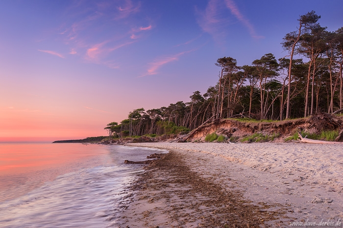 sunset, beach, coast, baltic sea, pink, germany, weststrand, 2016, photo