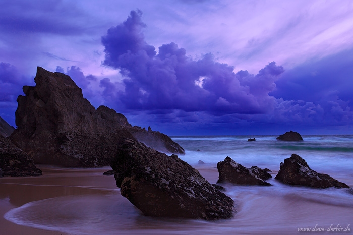 sunset, beach, rugged, twilight, coast, ocean, 2012, portugal, photo