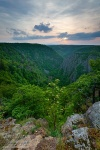 harz, summer, sunset, valley, clouds, thale, germany, Germany, photo