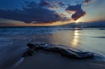 sunset, beach, ocean, reflection, twilight, sea, baltic sea, weststrand, sunstar, germany, 2011, photo