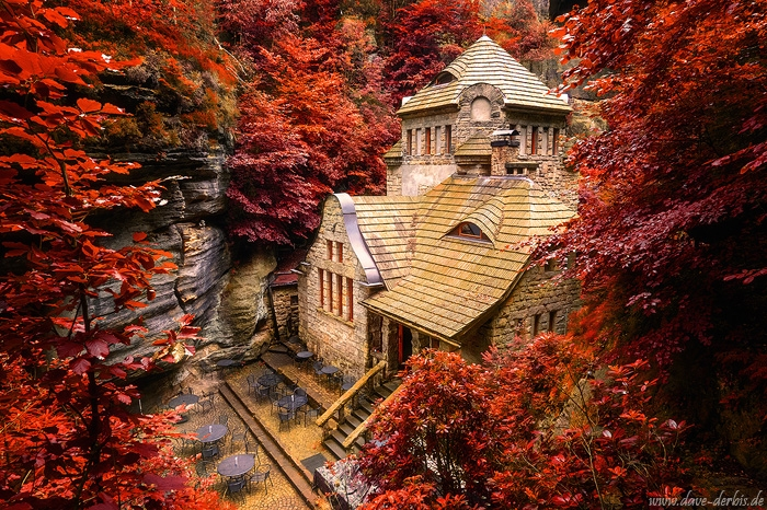 house, hotel, haunted, forest, bohemian switzerland, czech republic, 2020, photo