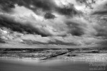 baltic sea, sunset, beach, coast, lonely, strandkorb, graal-müritz, strand, traum, dream, dramatic, sky, dramatisch, himmel, wolken, germany, bnw, photo