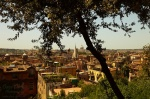 rome, summer, city, blue bird, basilica, italy, photo