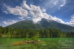 alpen, berchtesgaden, hintersee, lake, nationalpark, flooded, berg, schneebedeckt, blau, himmel, blue sky, mountain, stones, forest, bayern, germany, photo