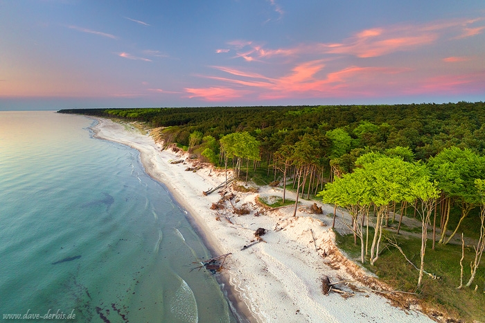 weststrand, baltic sea, beach, sunset, sand, ocean, coast, aerial, drone, germany, 2017, photo