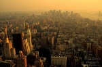 downtown, skyscrapers, new york city, sunset, new york, nyc, manhattan, usa, photo