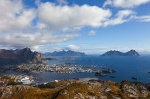 svolvaer, tjeldbergtinden, mountain, rugged, city, island, lofoten, norway, photo