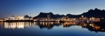 panorama, svolvaer, city, harbour, mountain, night, lofoten, norway, 2013, photo