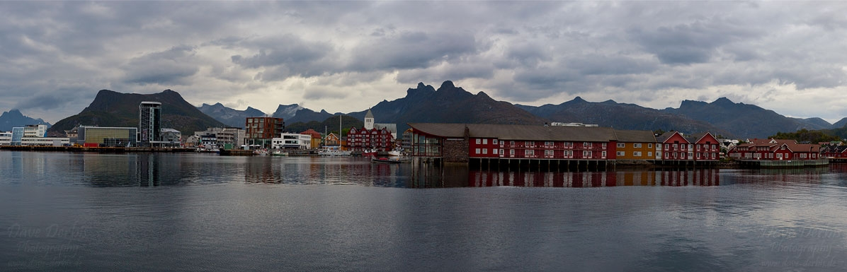 panorama, city, harbour, mountain, rugged, rorbuer, lofoten, norway, 2013, photo