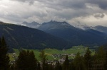 postcard, view, mountain, valley, village, swiss, 2013, photo