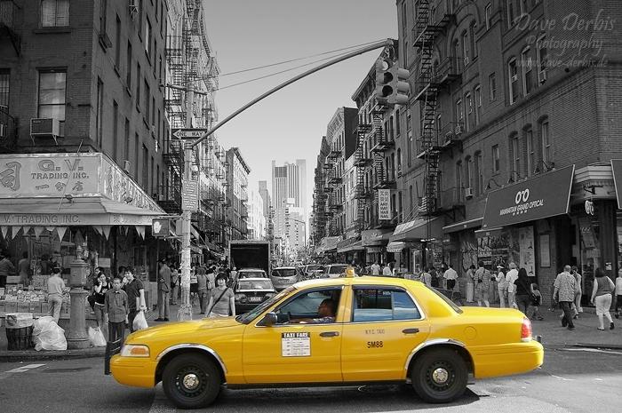 Usa new york city new york nyc china china town taxi photo