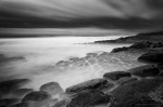 atlantic, coast, bnw, beach, ocean, stone, long exposure, portugal, praia, marcas, 2012, photo