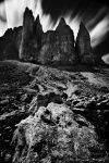 mountain, summit, ridge, clouds, long exposure, dolomites, italy, 2011, Italy, photo