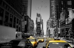 manhattan, skyscrapers, downtown, usa, new york city, new york, nyc, taxi, times square, photo