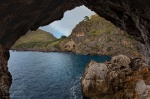 beach, bay, sea, coast, lagoon, window, tunnel, mallorca, spain, 2011, Spain, photo