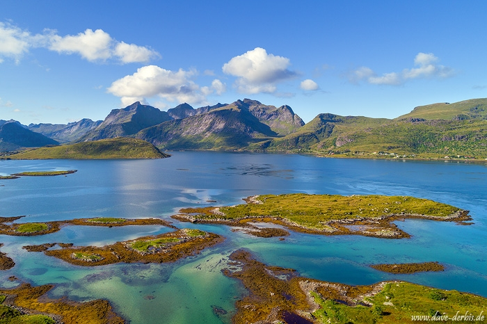 arctic, bay, ocean, fjord, mountains, drone, beach, lofoten, norway, summer, 2017, photo