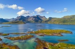 arctic, bay, ocean, fjord, mountains, drone, beach, lofoten, norway, summer, 2017, Norway, photo