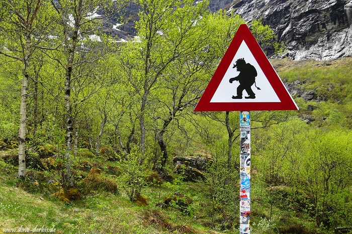 Troll Road Sign Romsdal Norway Dave Derbis