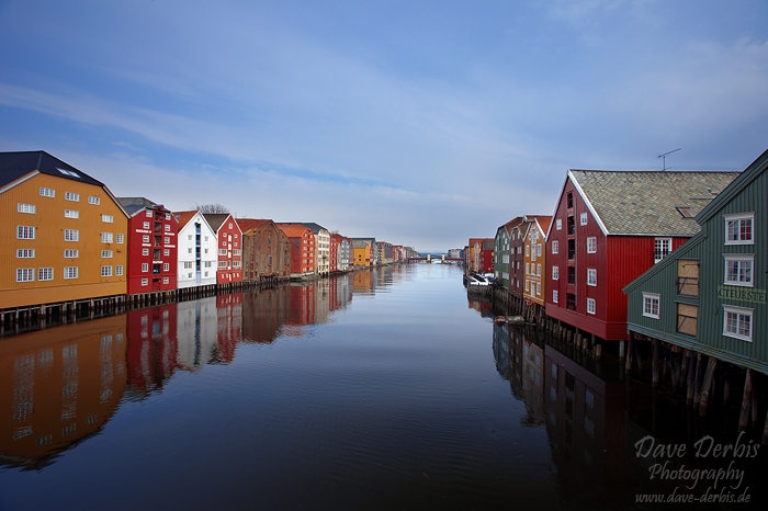 norway, city, river, trondheim, reflection, winter, snow, hurtigruten, photo