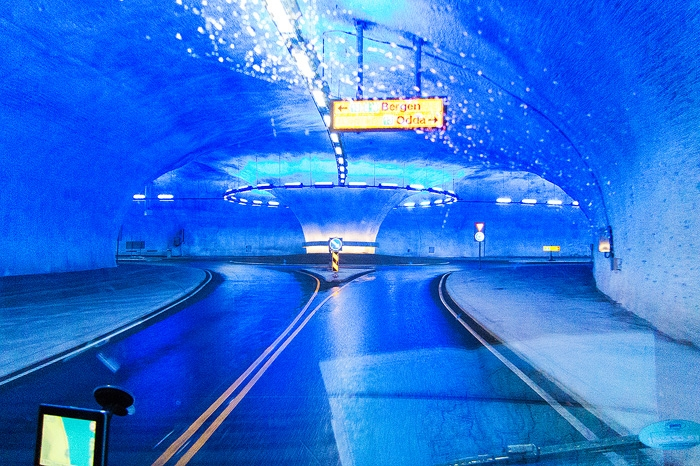 Tunnel Roundabout Norway Dave Derbis Photography