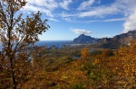 mountain, rugged, valley, autumn, lofoten, norway, Hiking Tjeldbergtinden, photo
