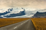 roadshot, street, glacier, mountain, vatnajoekull, iceland, 2016, Iceland, photo