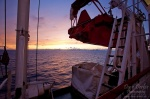 sunset, ocean, boat, passage, vestfjorden, arctic, twilight, norway, 2010, photo