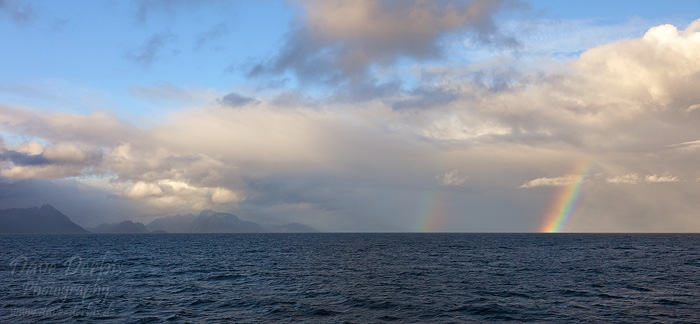 rainbow, norwegian sea, rainbow, lofoten, norway, 2013, photo